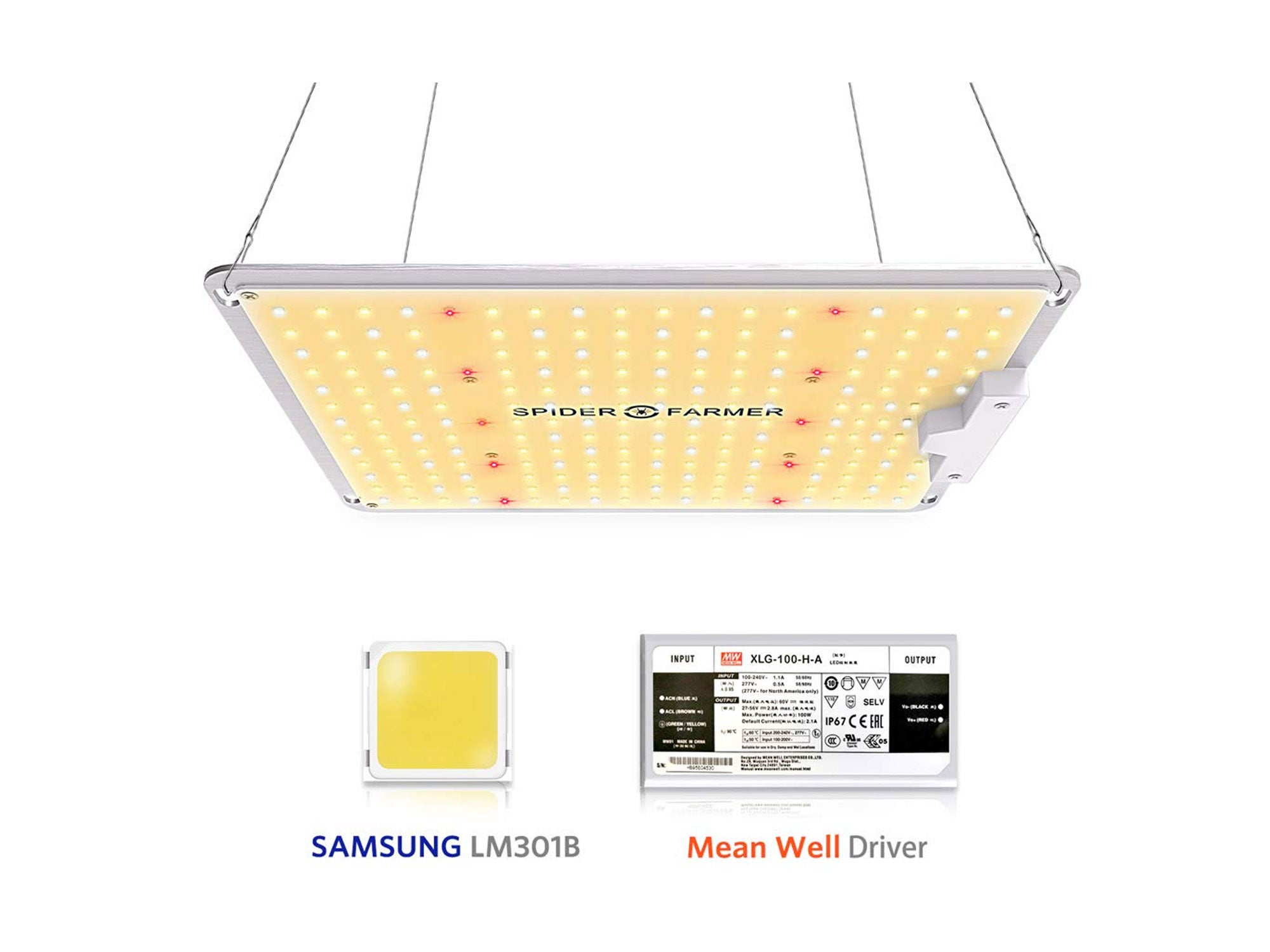 Spider Farmer SF-1000 LED Grow Light with Samsung Chips