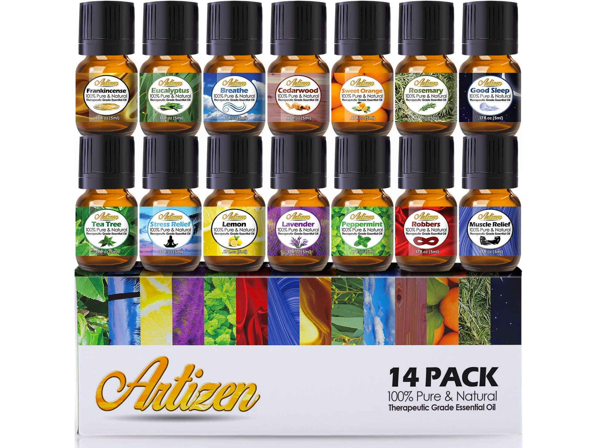 Artizen Aromatherapy Top 14 Essential Oil Set