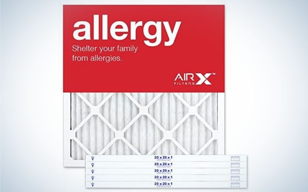 The AIRx Allergy 20x20x1 MERV 11 Pleated Air Filter is the best furnace filter for allergen protection.