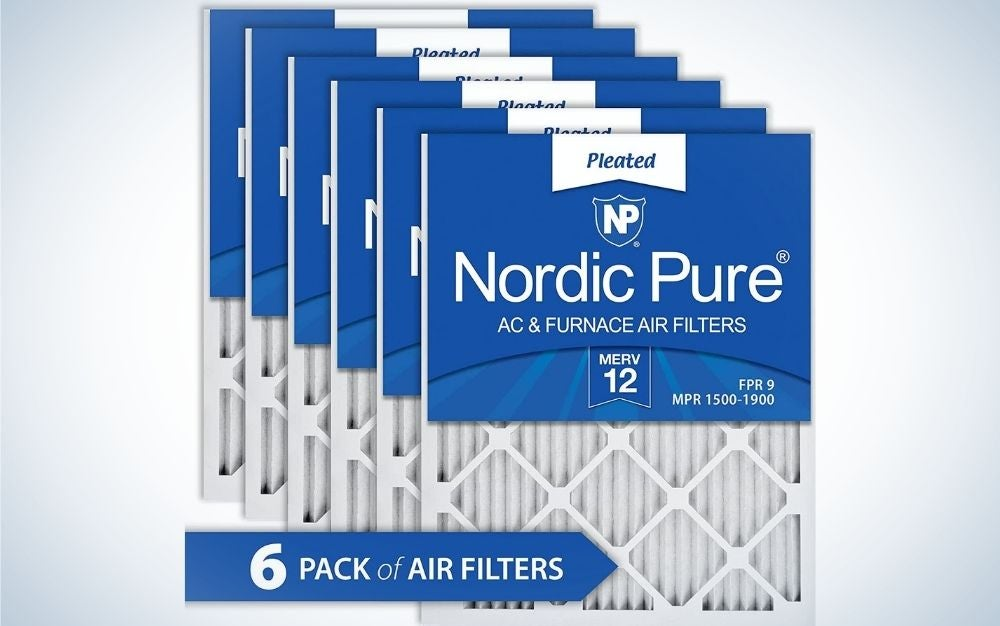 The Nordic Pure 16x16x1 MERV 12 Pleated AC & Furnace Filter is the best overall furnace filter.