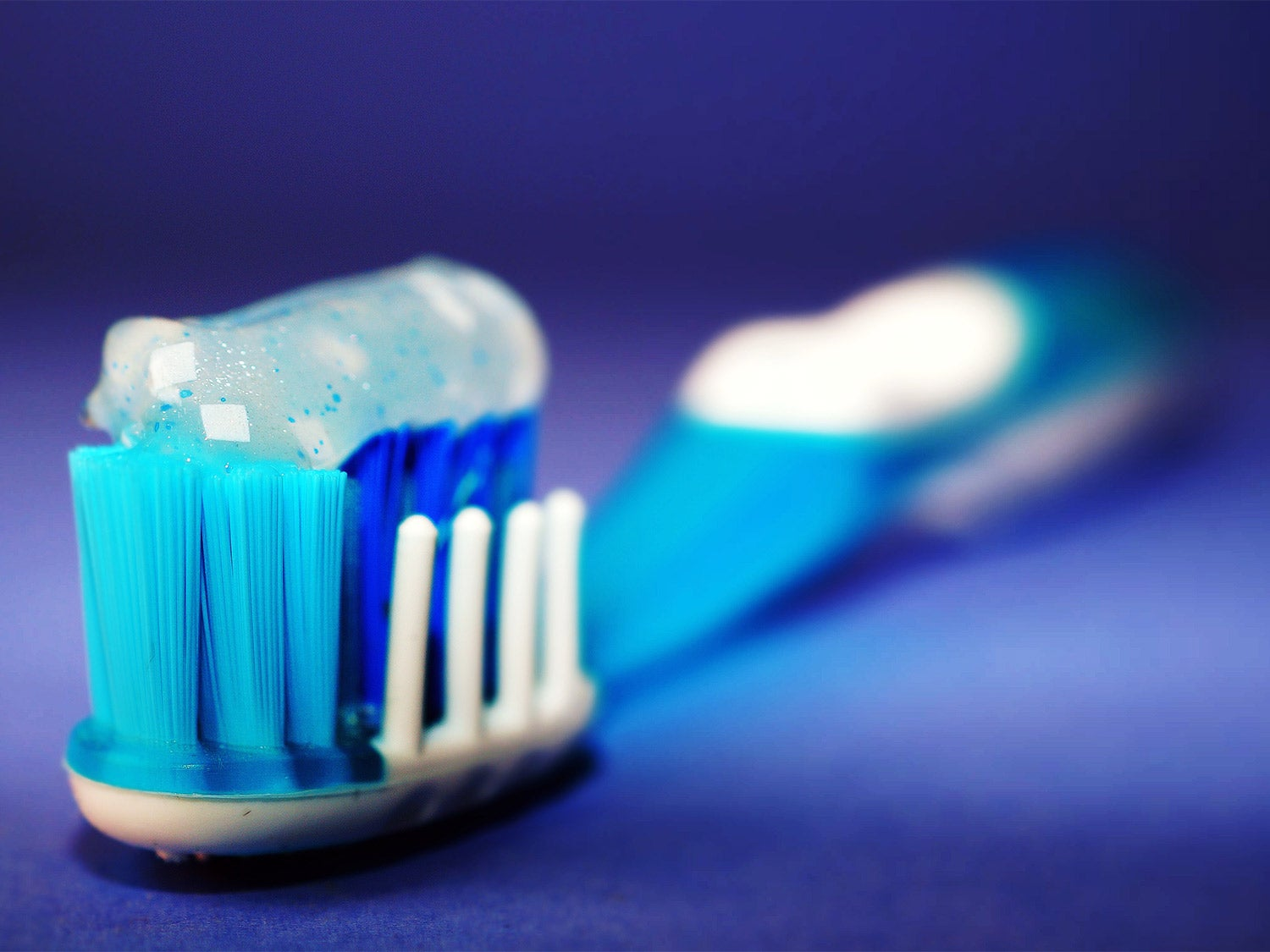 Toothbrush with toothpaste.