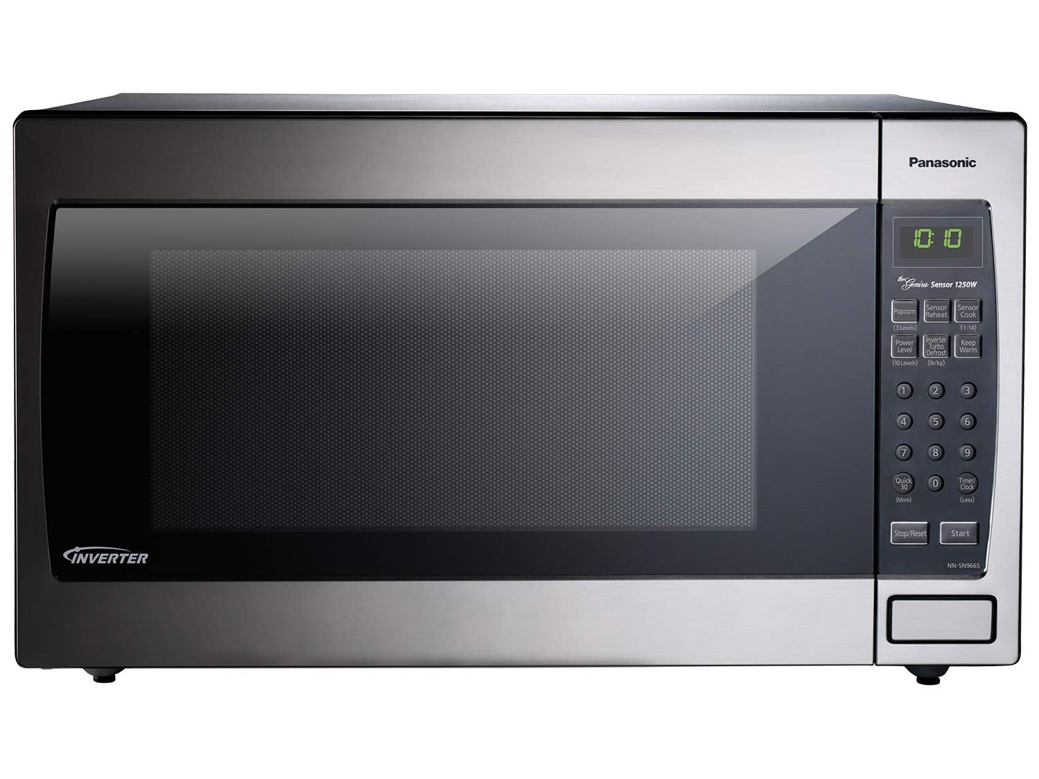 Panasonic Microwave Oven NN-SN966S Stainless Steel Countertop/Built-In with Inverter Technology and Genius Sensor