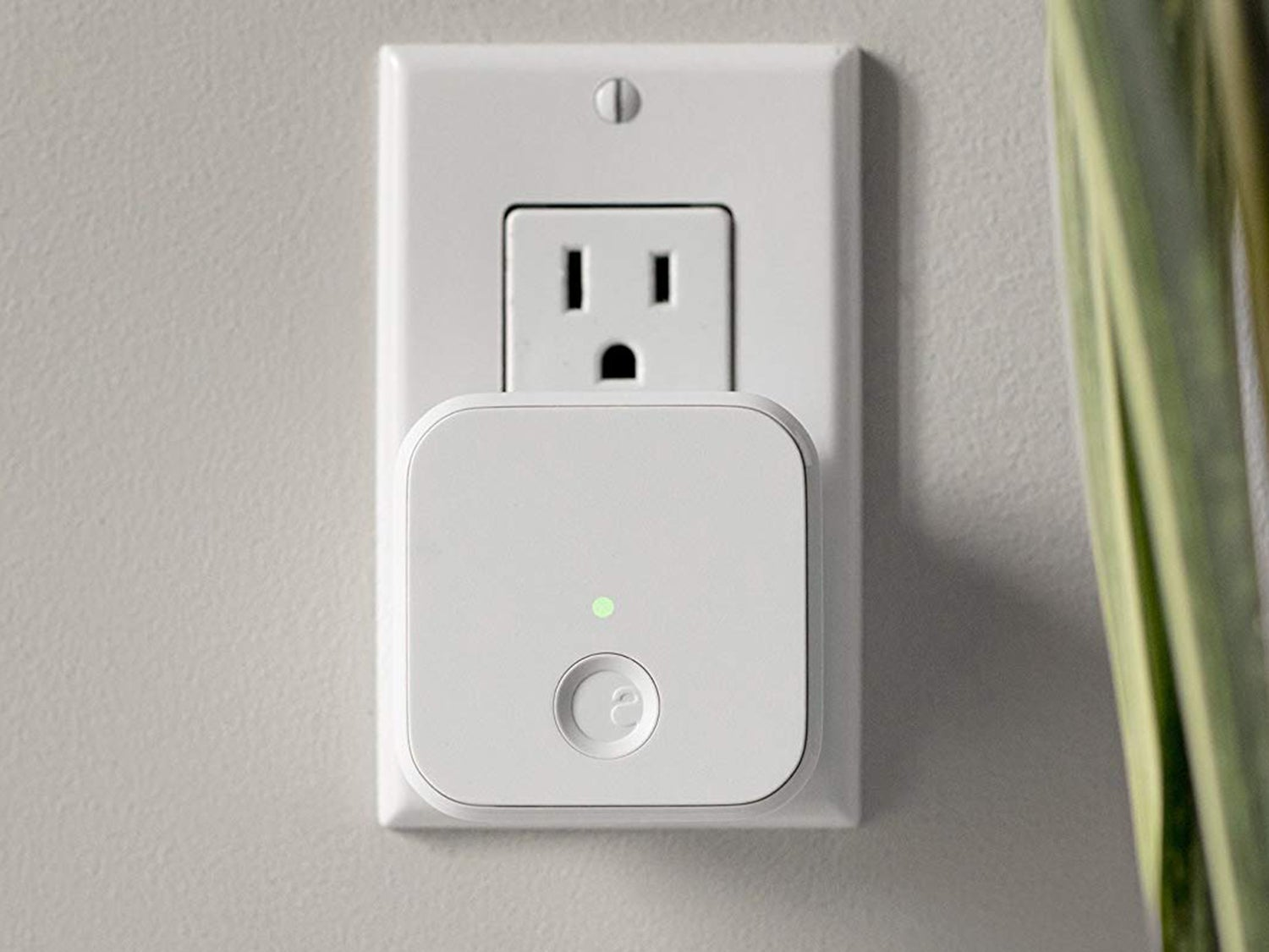A smart plug in the outlet