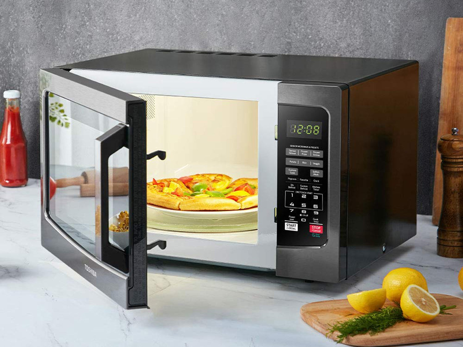Exterior of microwave oven