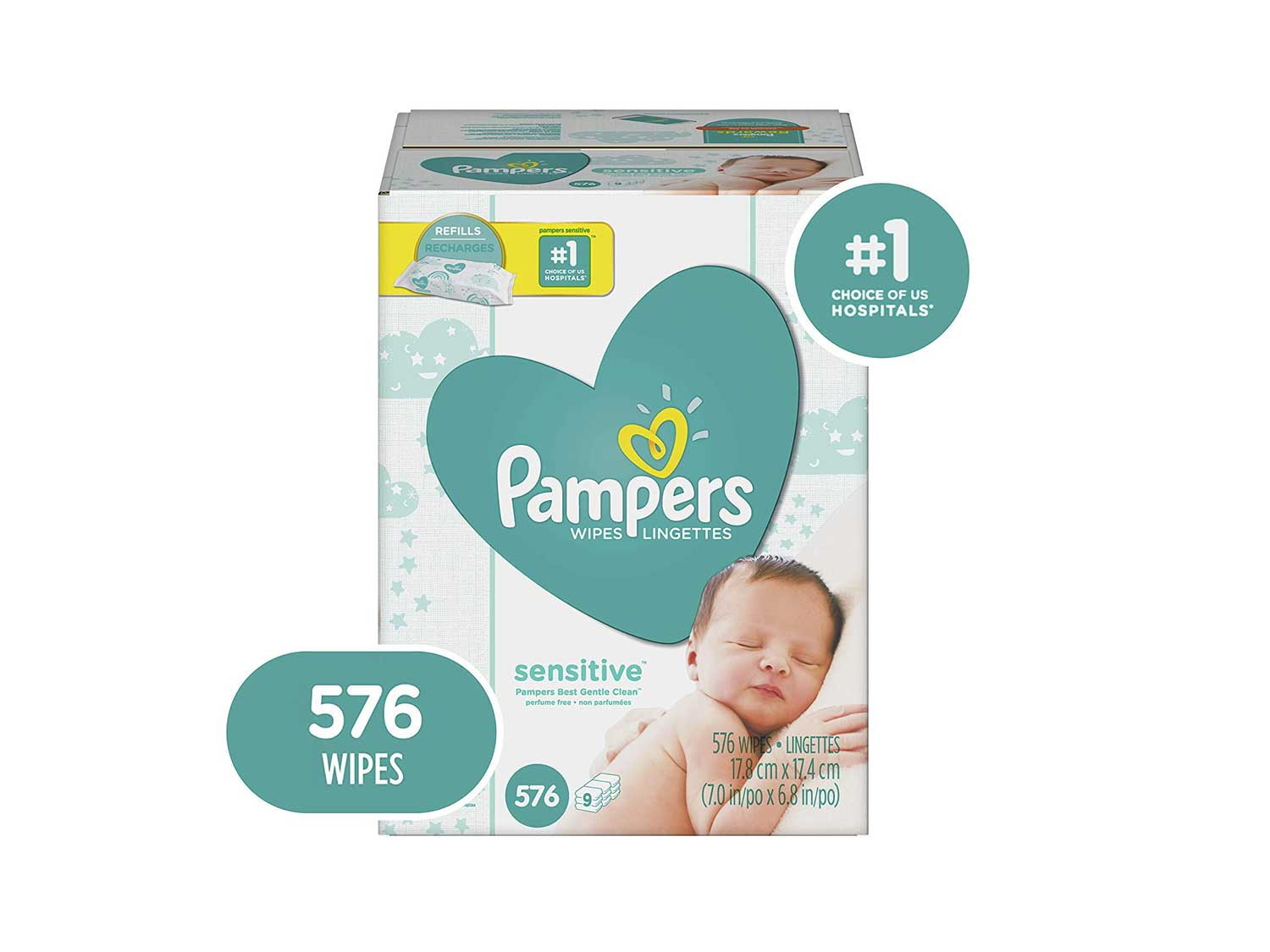 Baby Wipes, Pampers Sensitive Water Based Baby Diaper Wipes