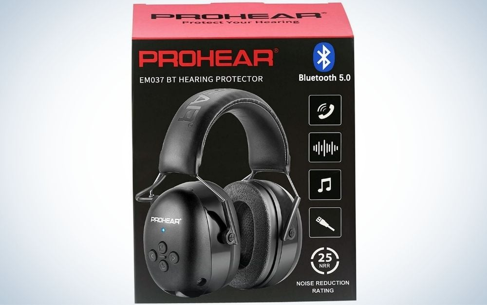 The PROHEAR 037 Bluetooth 5.0 hearing protection is the best hearing protection with Bluetooth.