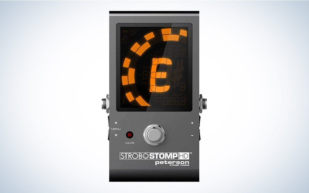 The Peterson StroboStomp HD is our pick for the best overall guitar tuner.