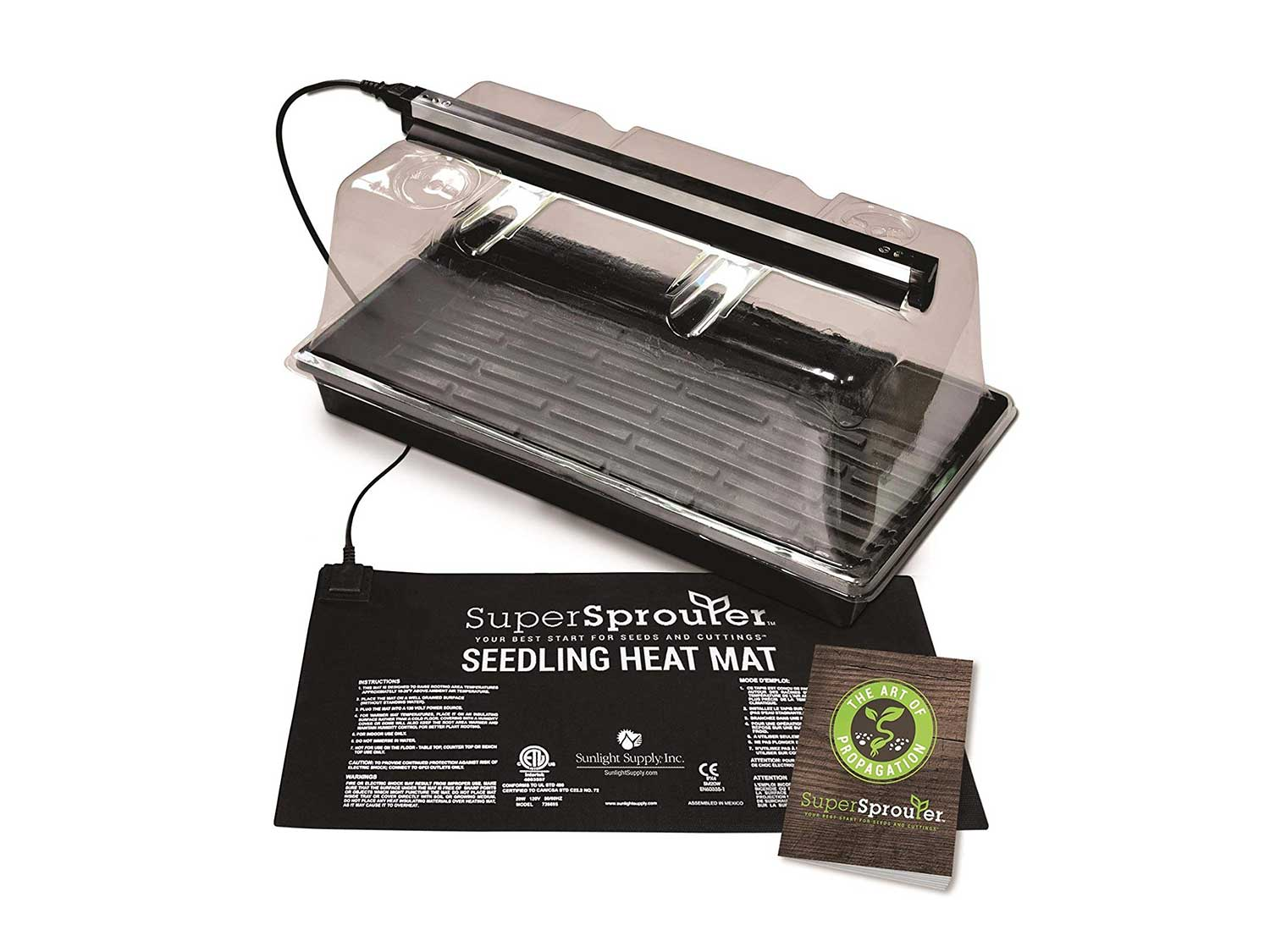 Super Sprouter Premium Propagation Kit with Heat Mat