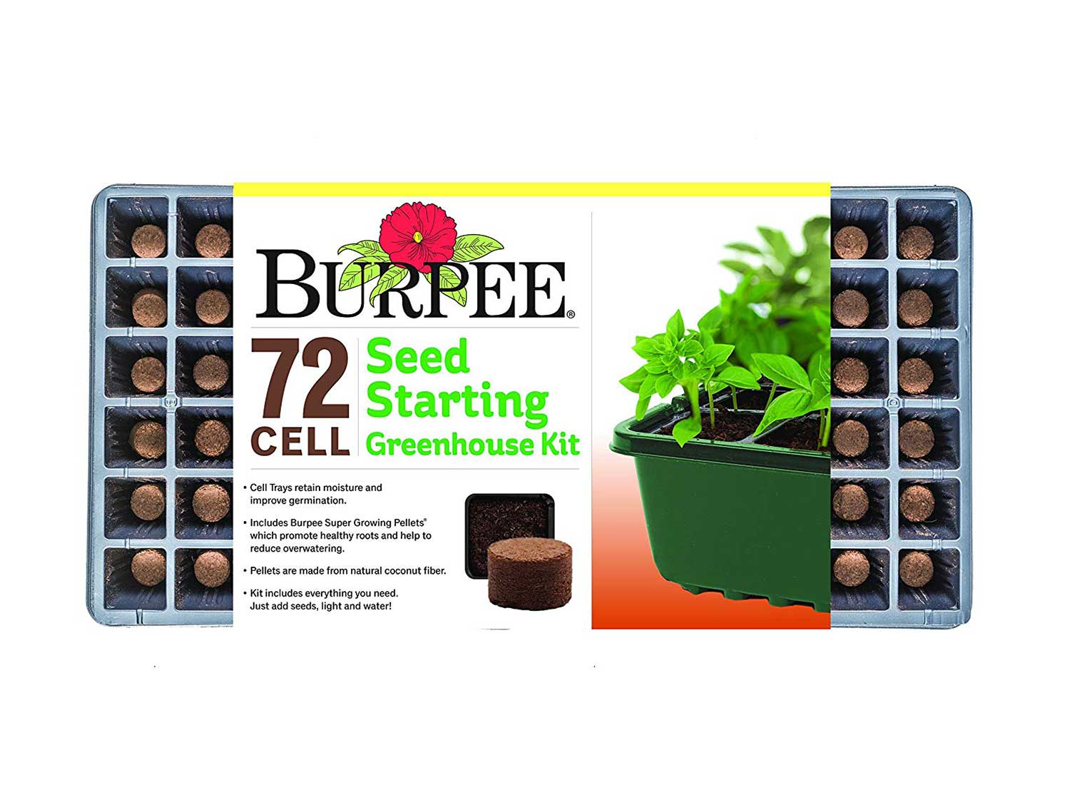 Burpee 72 Cell Seed Starting Greenhouse Kit