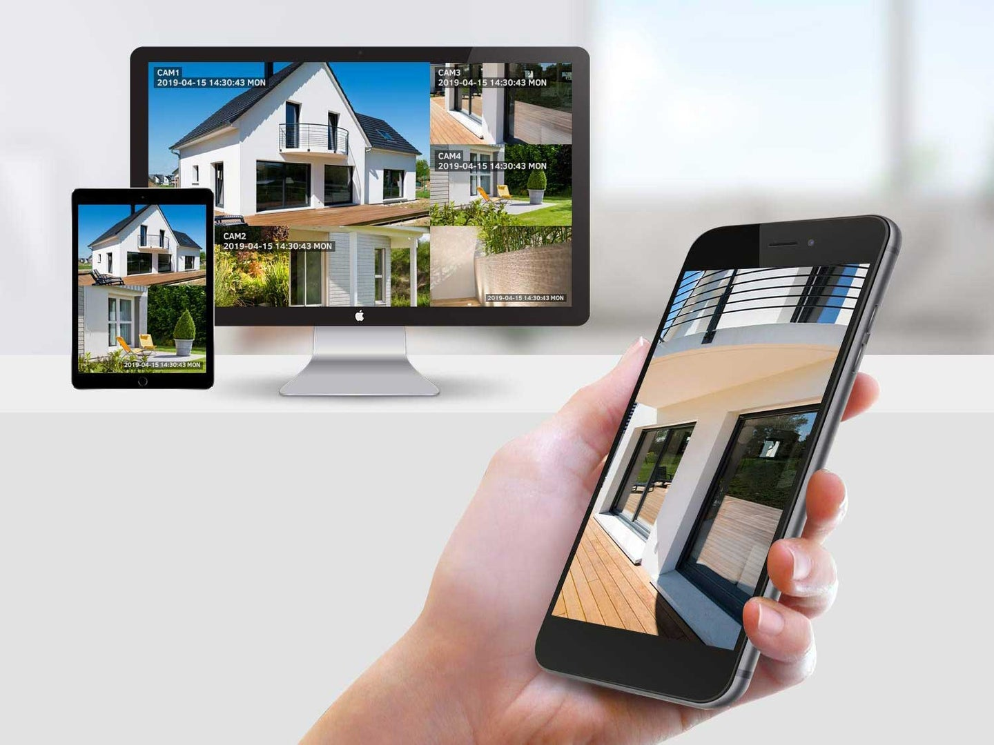 Home security system on phone app