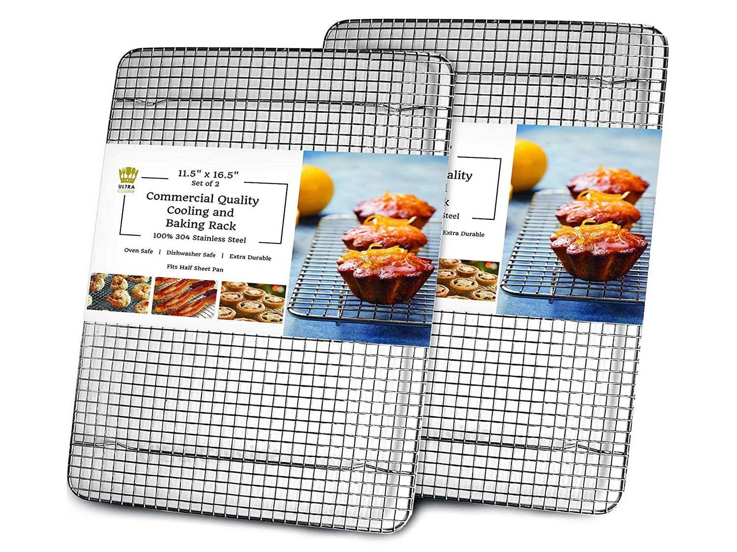 Cooling, Baking & Roasting Wire Racks for Sheet Pans