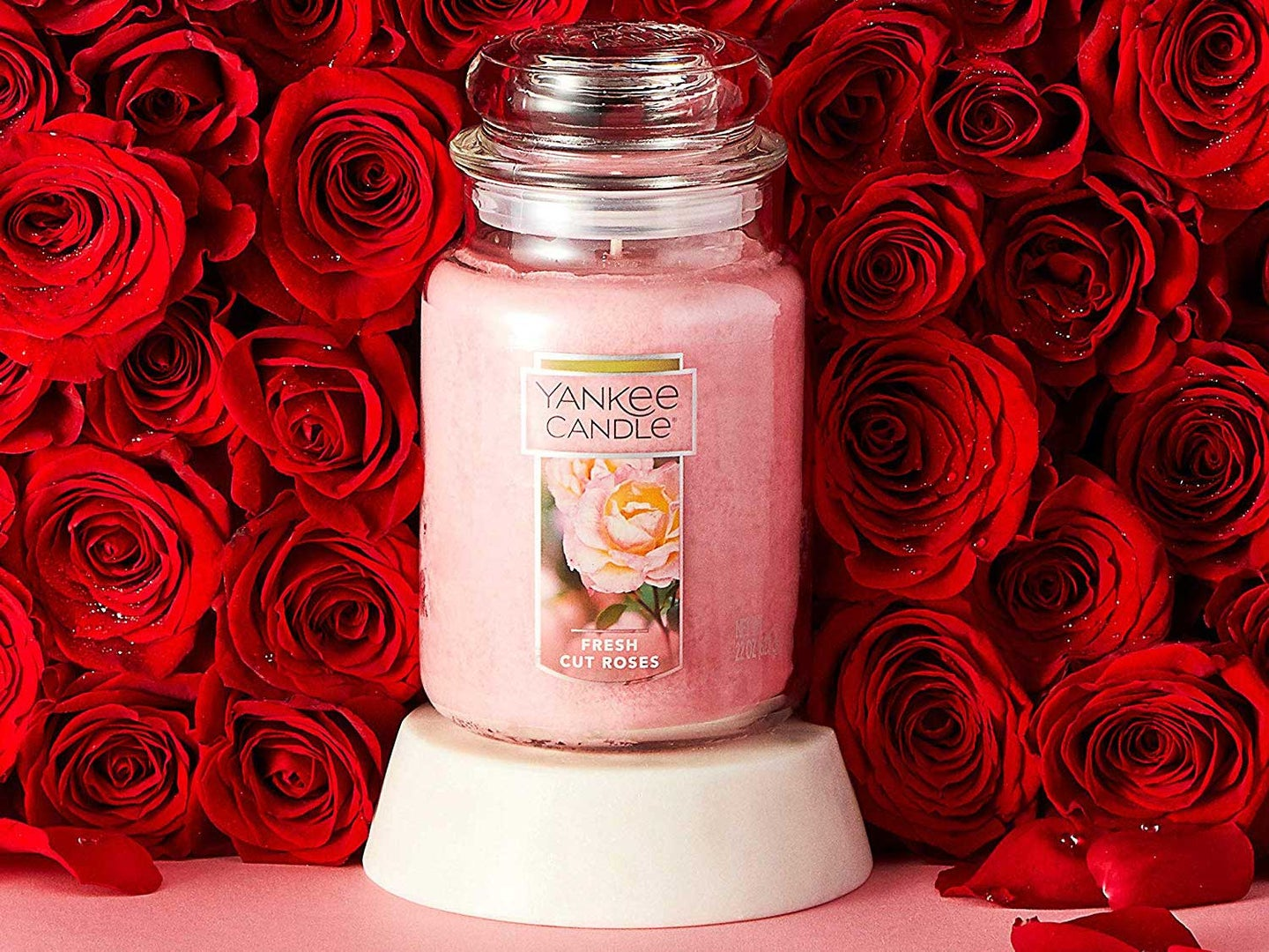 Fresh cut roses candle from Yankee