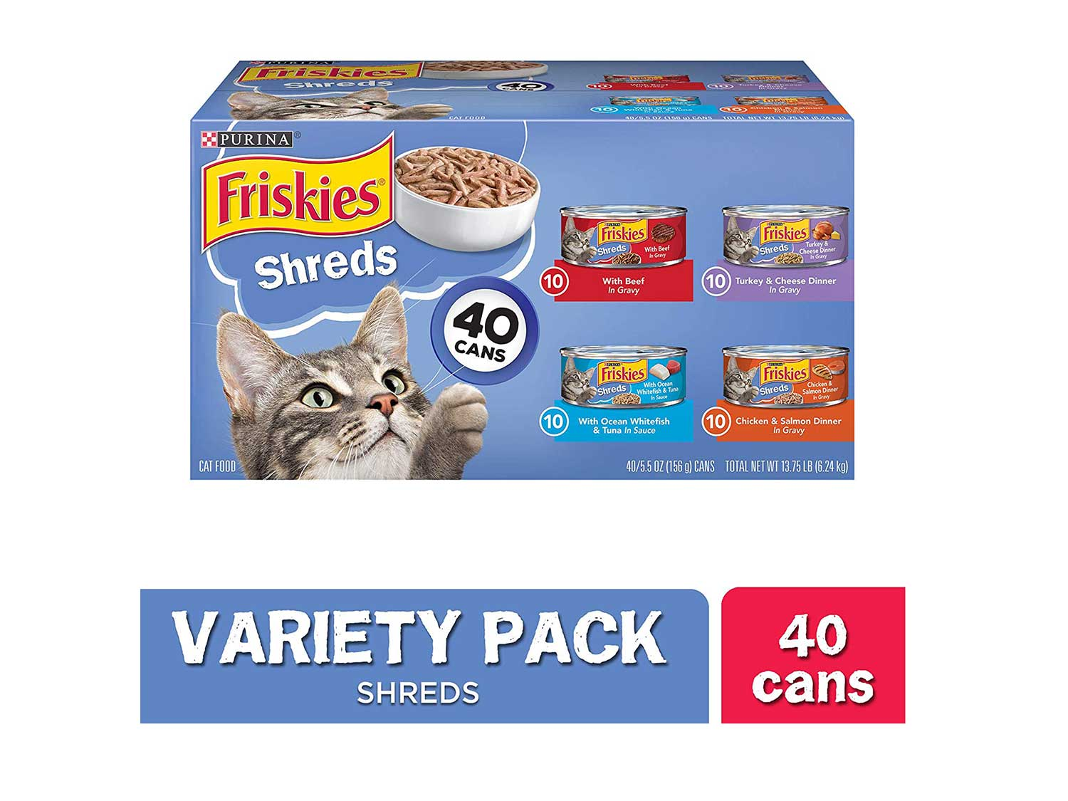 This canned cat food provides 100 percent of the ingredients needed for a complete and balanced meal.