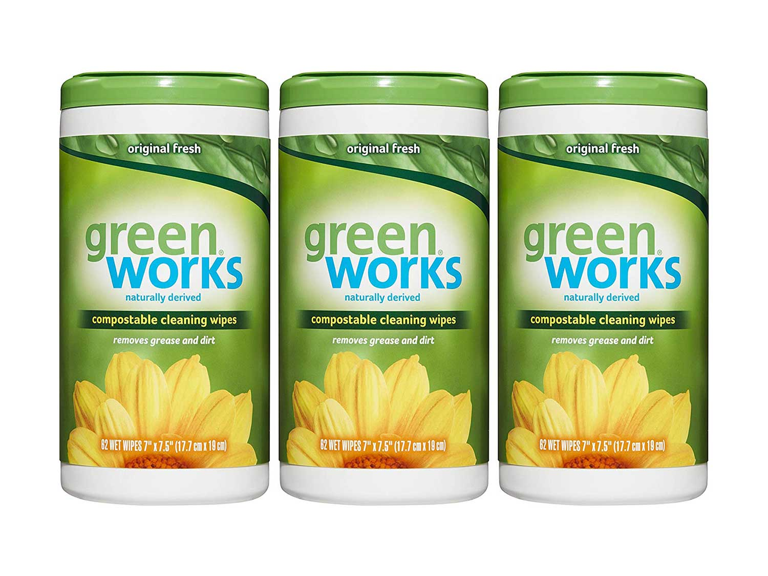 Green Works Compostable Cleaning Wipes, Biodegradable Cleaning Wipes