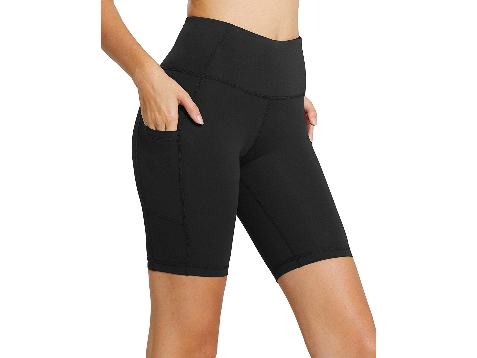 High Waist Workout Yoga Running Compression Exercise Shorts