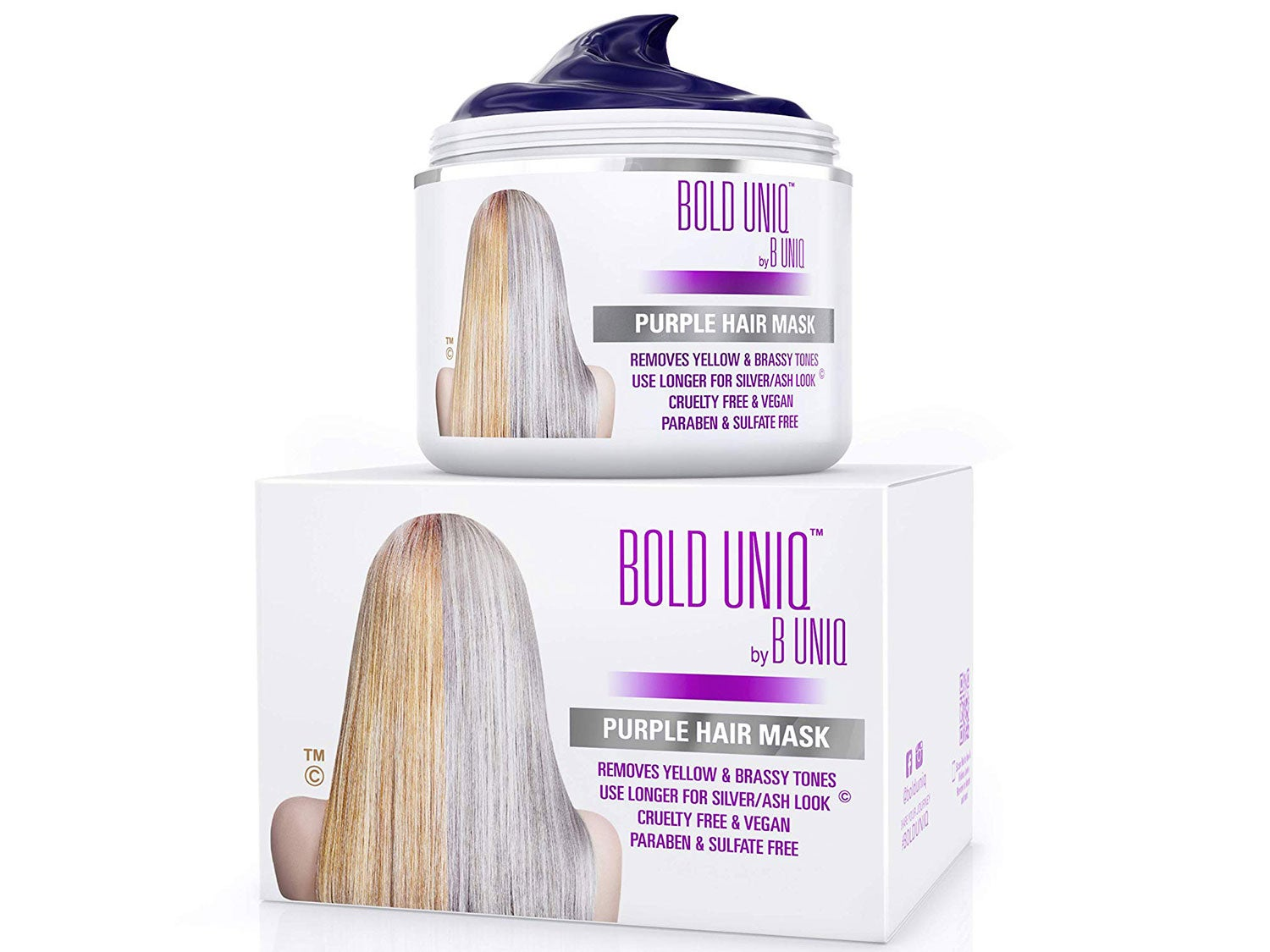 Bold Uniq Purple Hair Mask