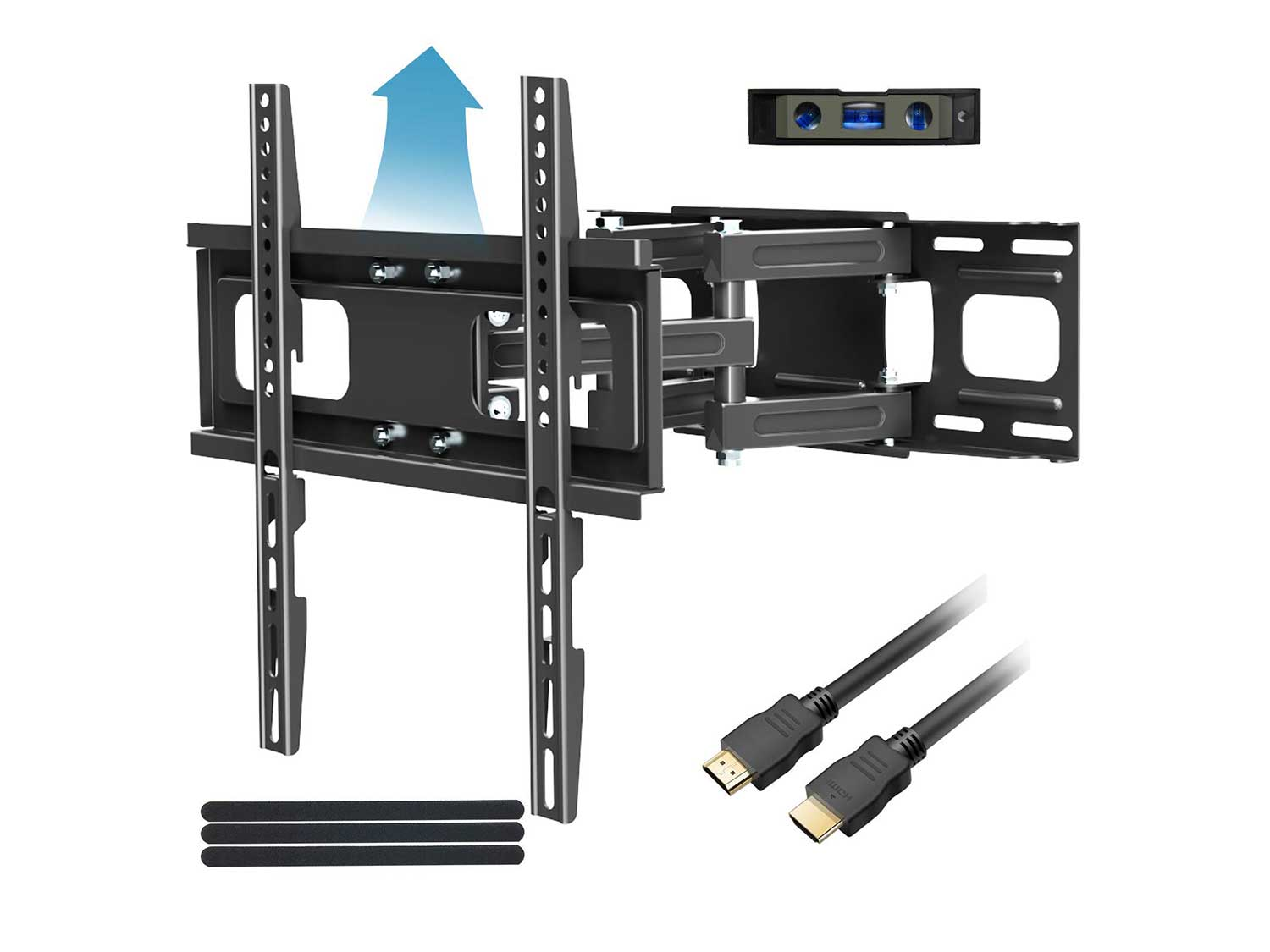 Full Motion TV Mount with Height Setting FOZIMOA TV Wall Mount
