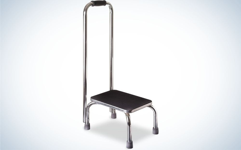 The DMI Step Stool with Handle for Adults is the best stepping stool for seniors,