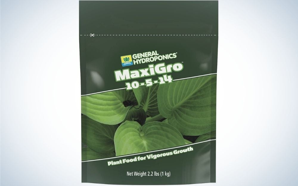 General Hydroponics MaxiGro Plant Food is the best value formula.
