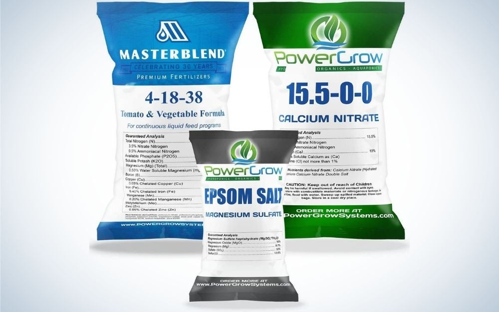 Masterblend 4-18-38 Complete Combo Kit is the best dry fertilizer.