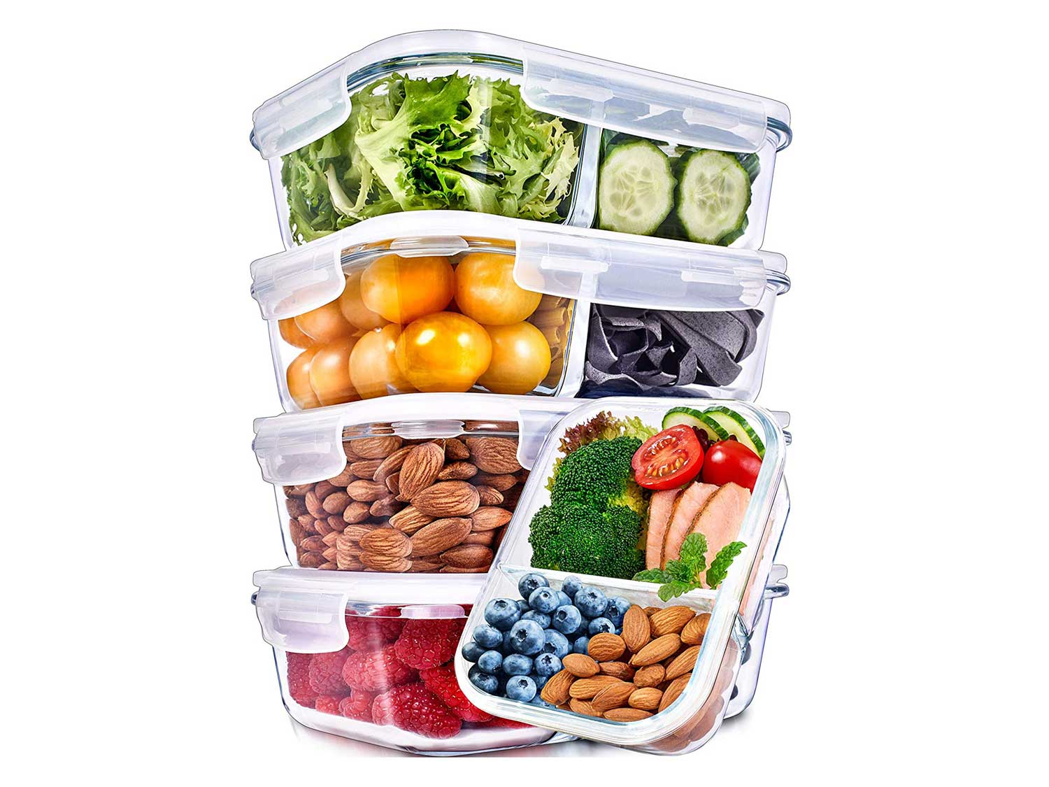 Glass Meal Prep Containers 2 Compartment Meal Prep Containers Glass