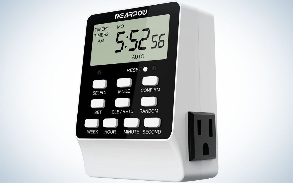 The Nearpow Dual Digital Light Timer is the best overall.