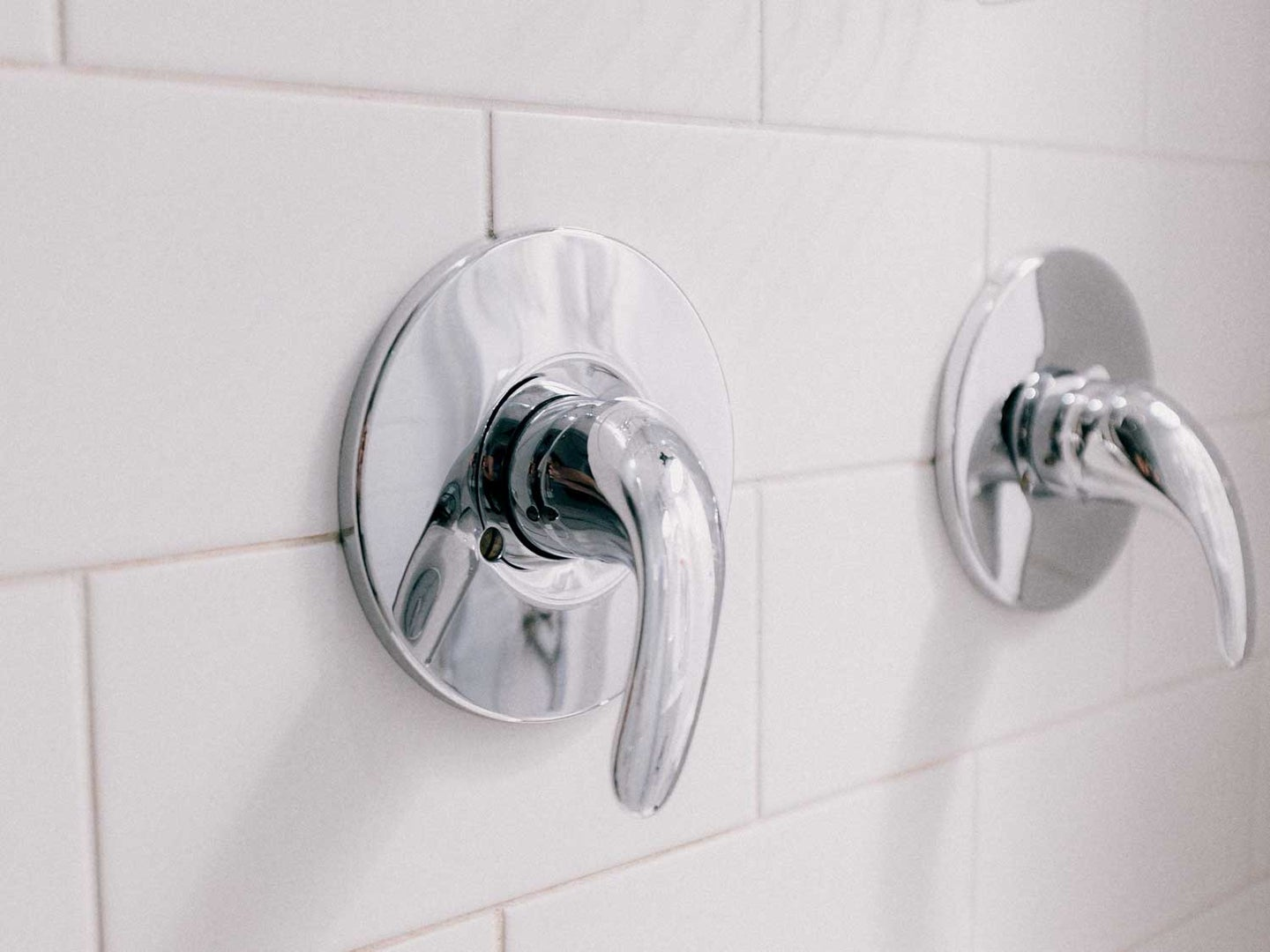 Stainless steel shower faucet handles