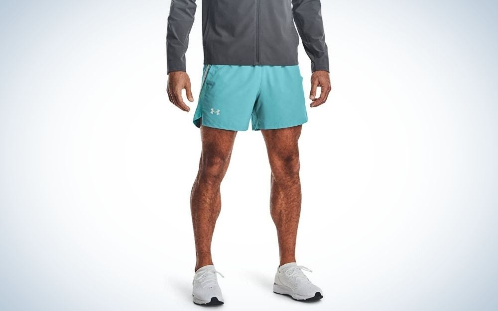 The Under Armour Launch running shorts are the best reflective men's running shorts.