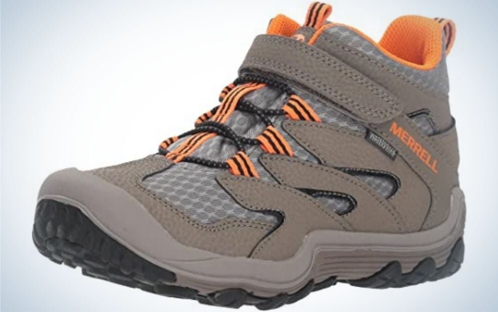 The Merrell Chameleon 7 are our pick for the best kids hiking shoes for traction.
