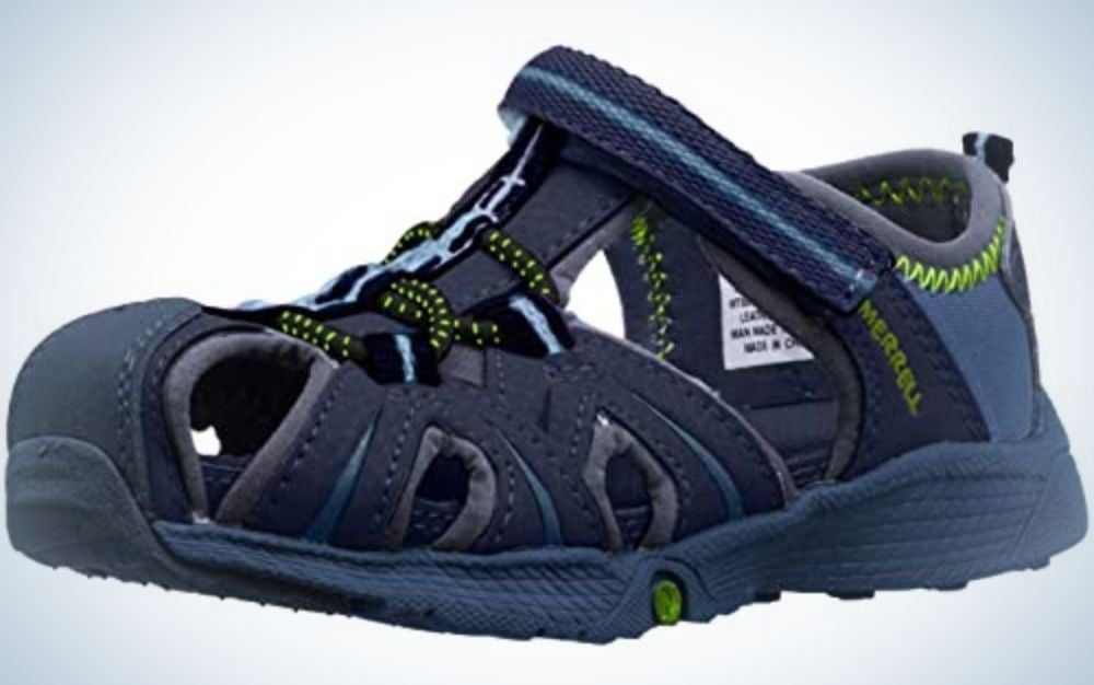 The Merrell Hydro Junior Sport Sandals are our pick for the best water-resistant kids hiking shoes.