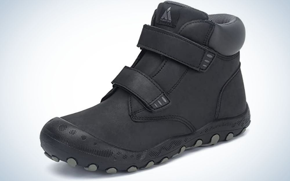The Mishansha Water-Resistant Hiking Boots are our pick for the best value kids hiking shoes.