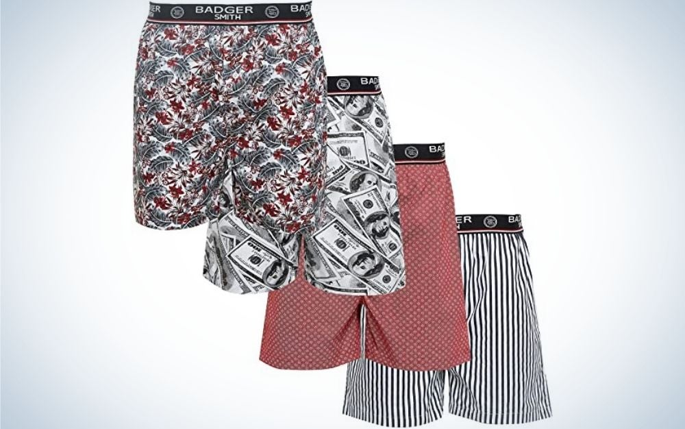 The Badger Smith Men's Boxer Shorts have the best style.
