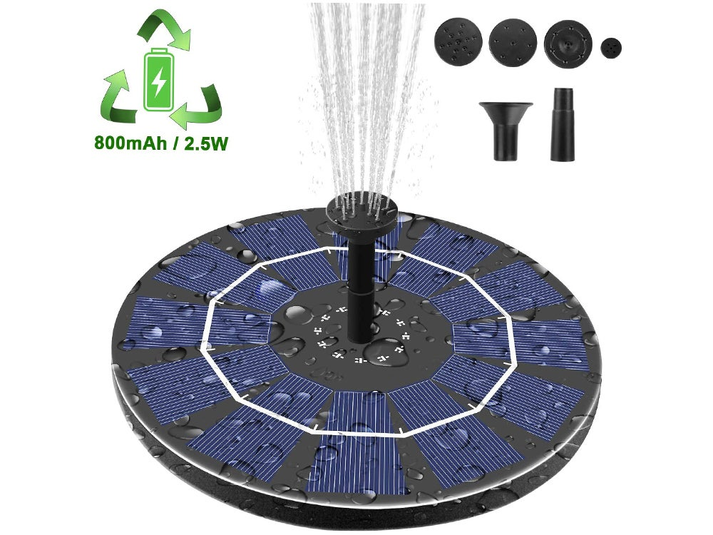 Viajero Free-Standing Portable Floating Solar Powered Water Fountain Pump