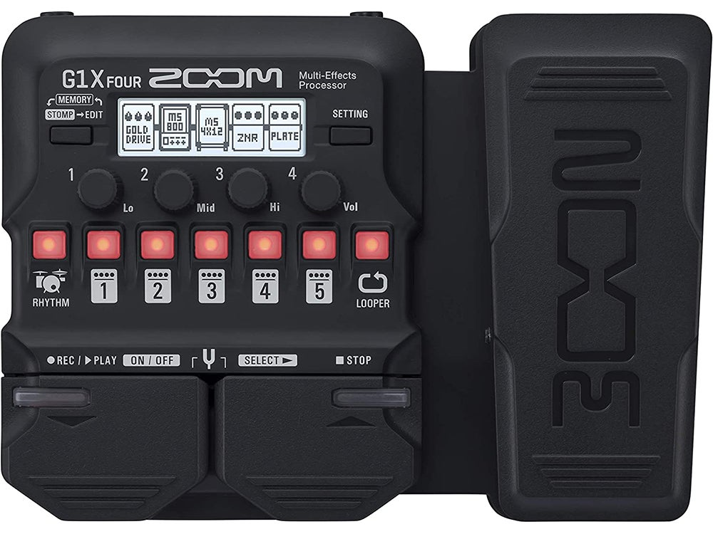 Zoom G1X FOUR Guitar Multi-Effects Processor with Expression Pedal