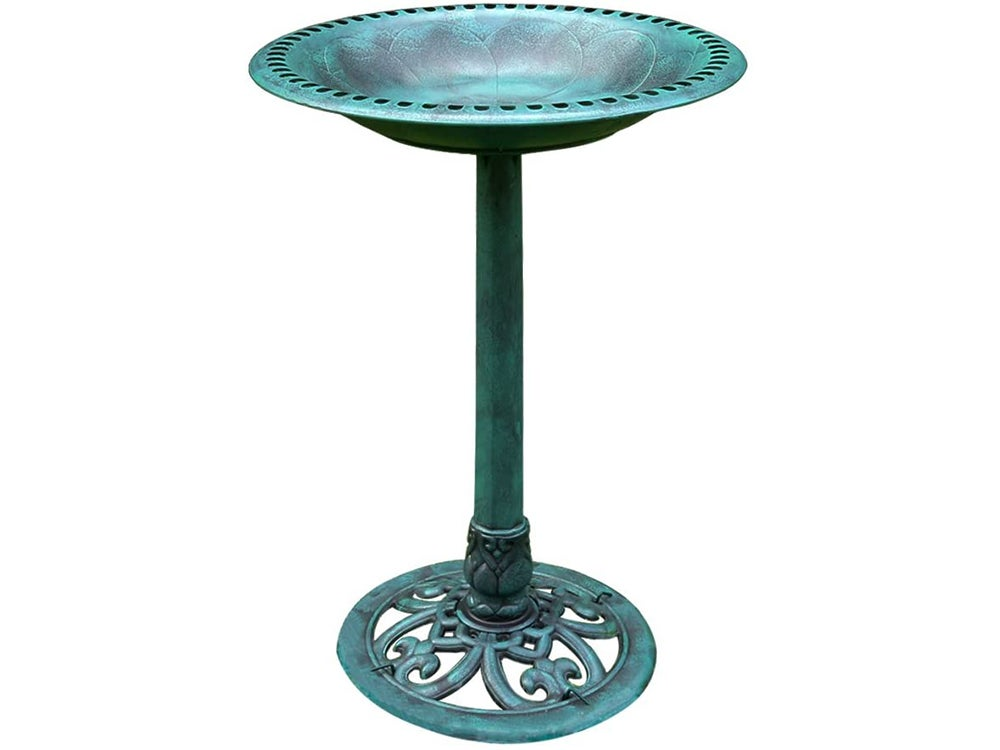 VIVOHOME 28 Inch Height Polyresin Lightweight Antique Outdoor Garden Bird Bath
