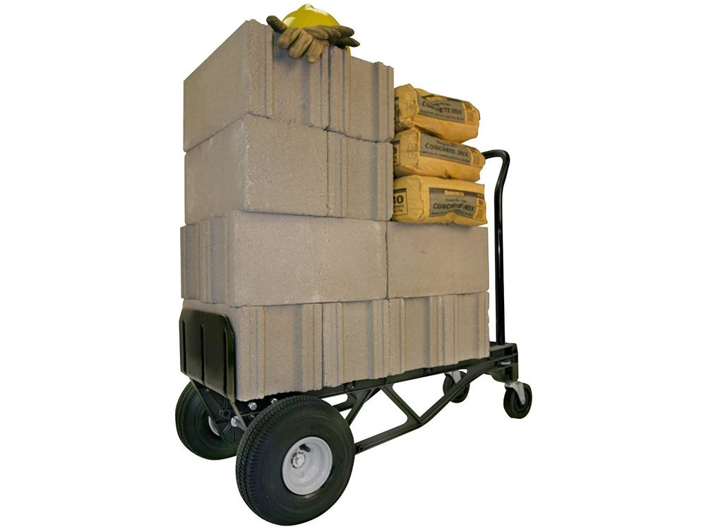 Hand truck that converts into a dolly