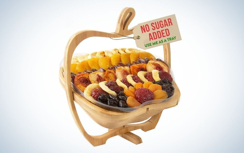The Oh Nuts! Dried Fruit Basket is the best dried fruit for gifting.