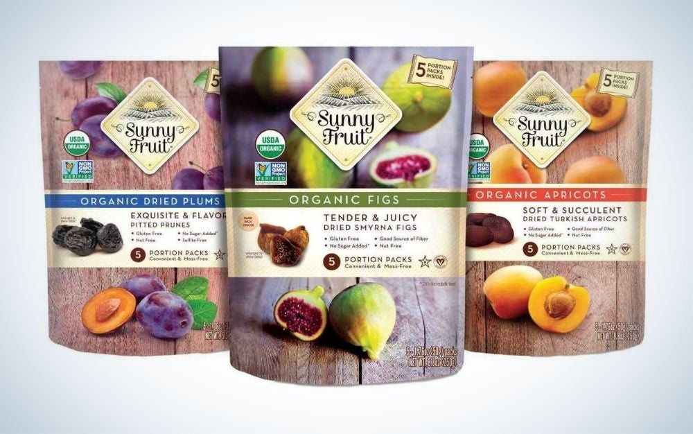 Sunny Fruit Organic Dried Fruit is the best value dried fruit.