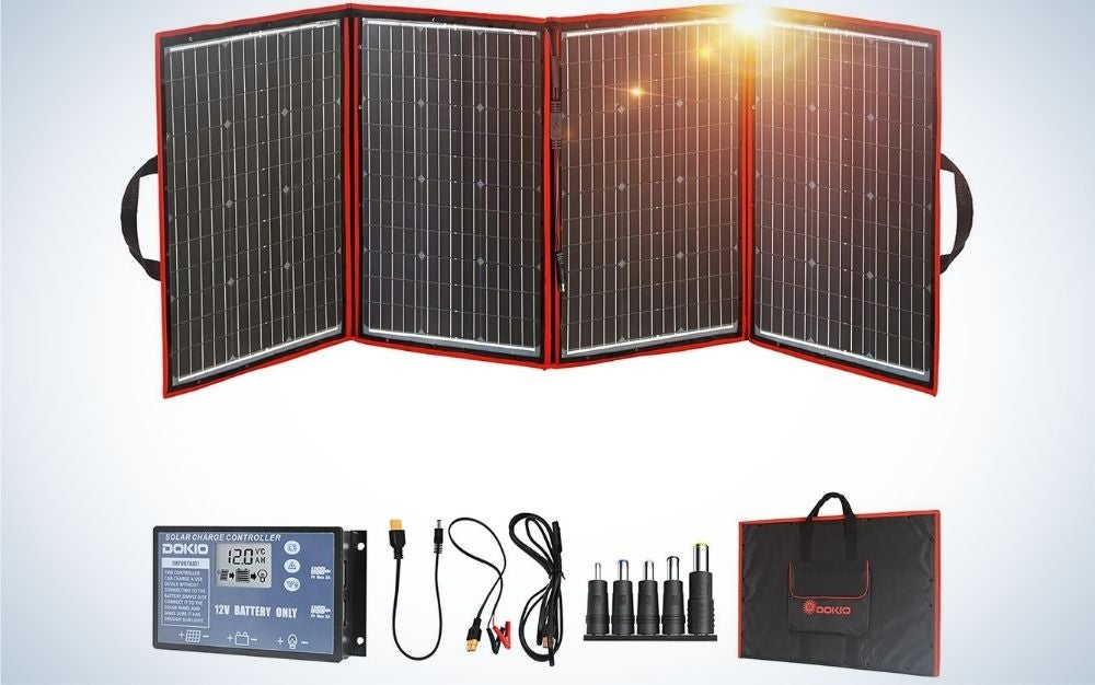 The Dokio 220w 18v Foldable Solar Panel Kit is the best foldable.