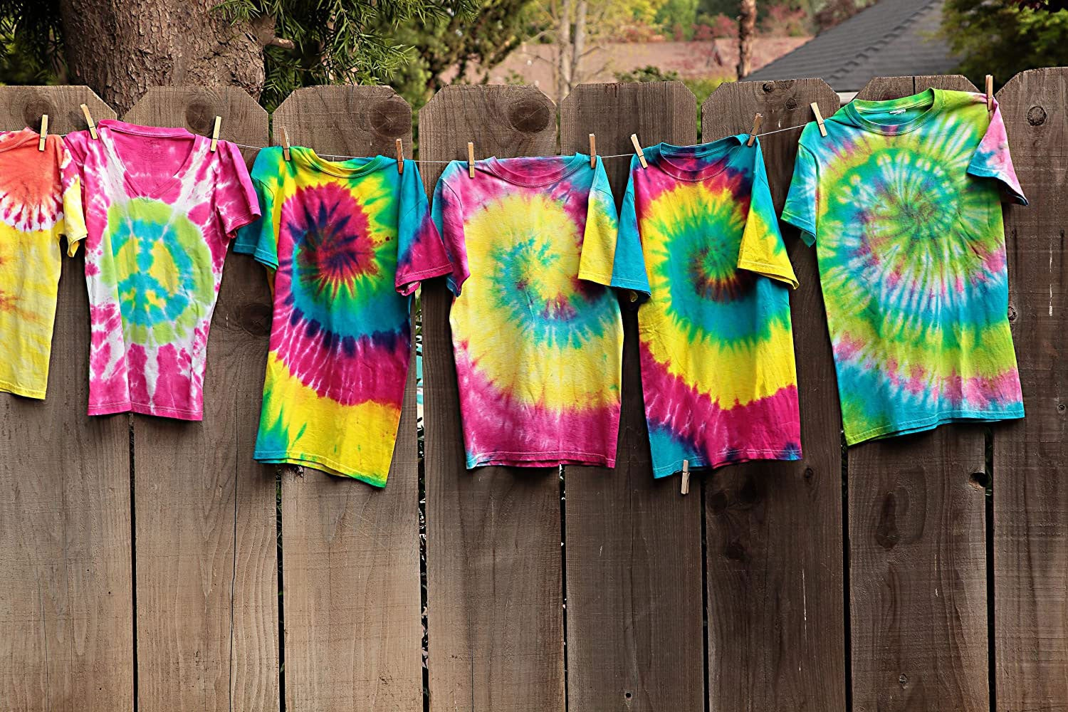 Learn how to tie-dye shirts