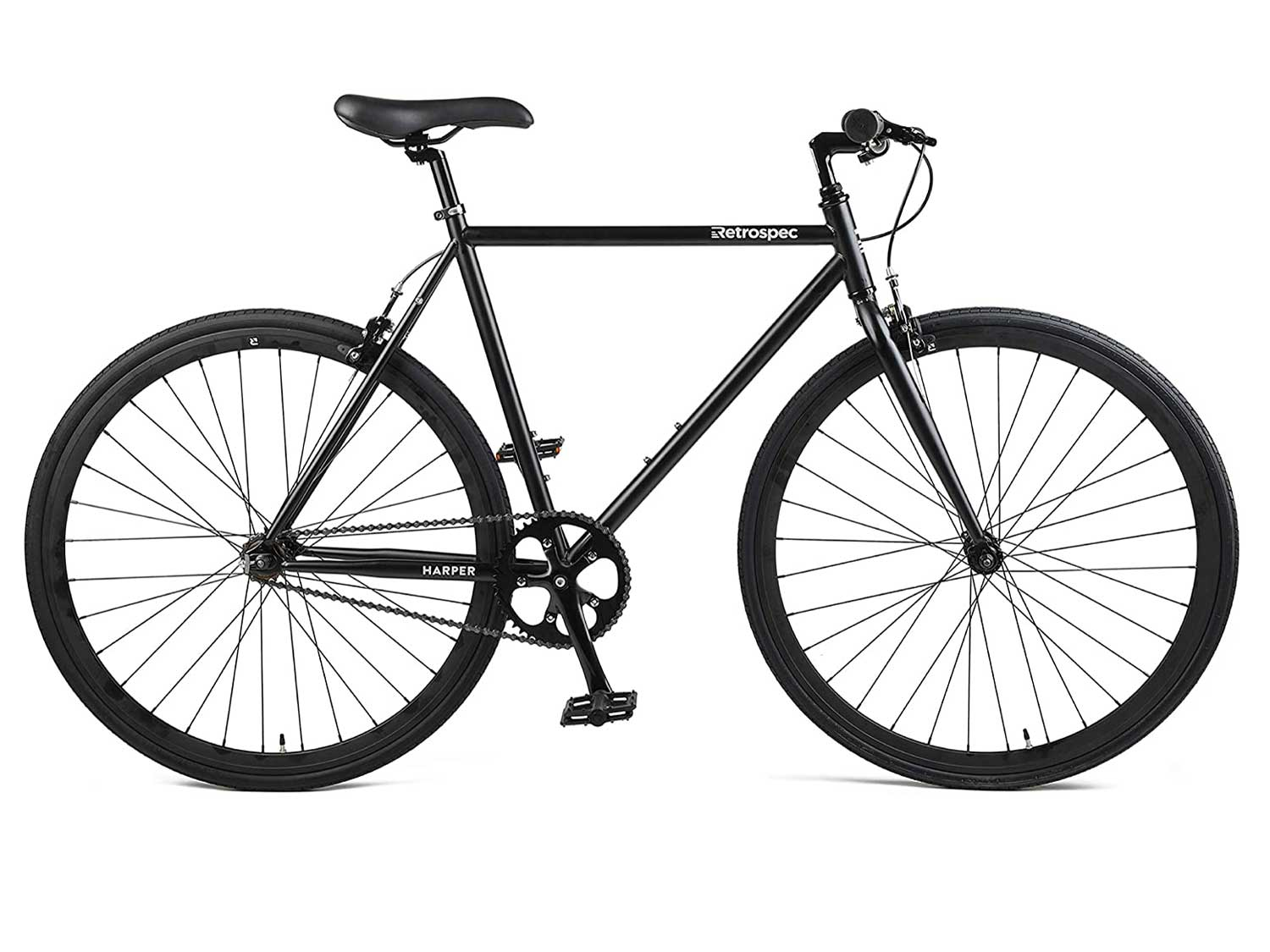 The Retrospec Harper fixed-gear bike features a reversible hub, so you can ride fixed or turn it into a coaster bike.
