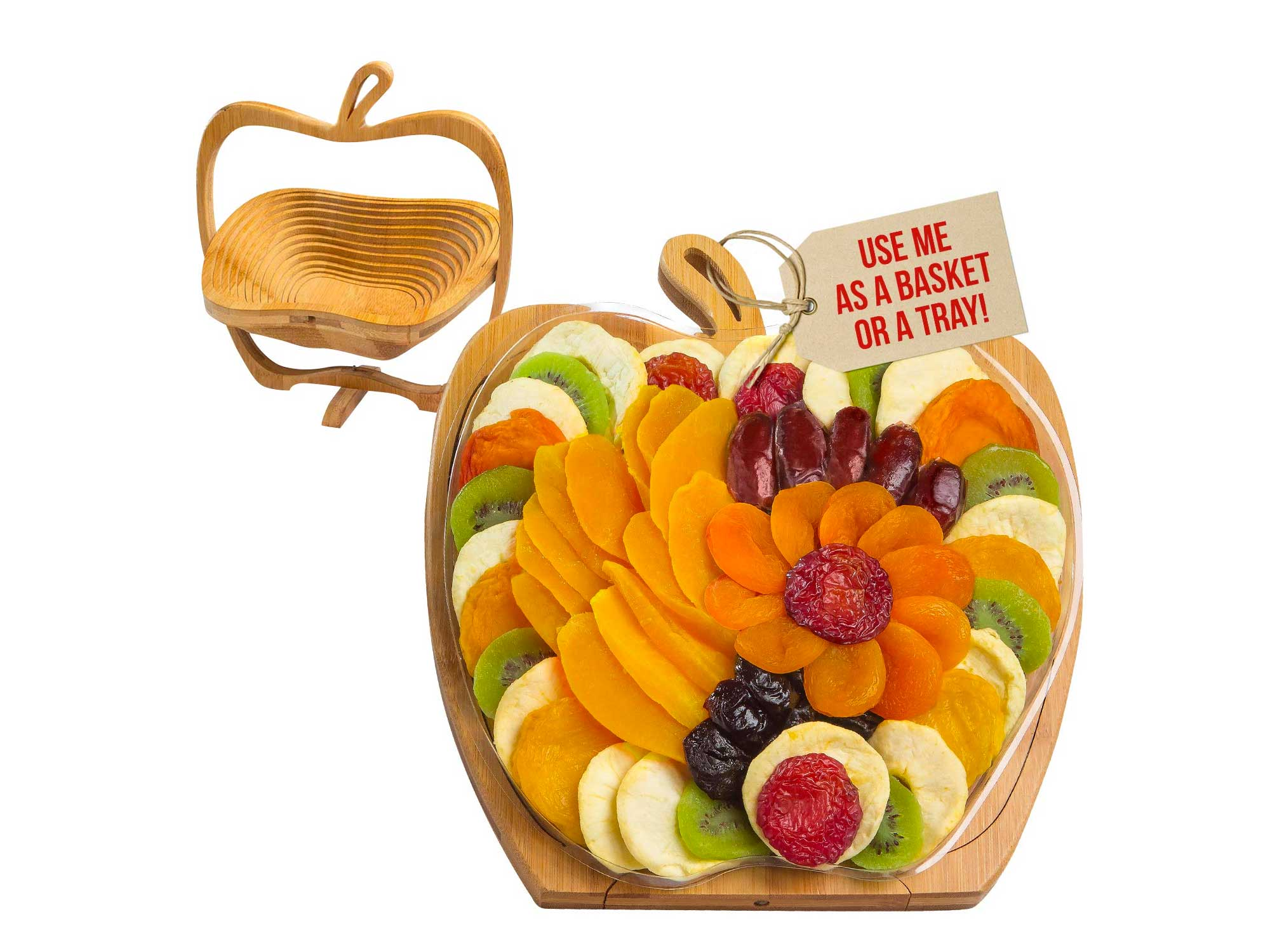 Dried Fruit Gift Basket Tray Turns into Basket