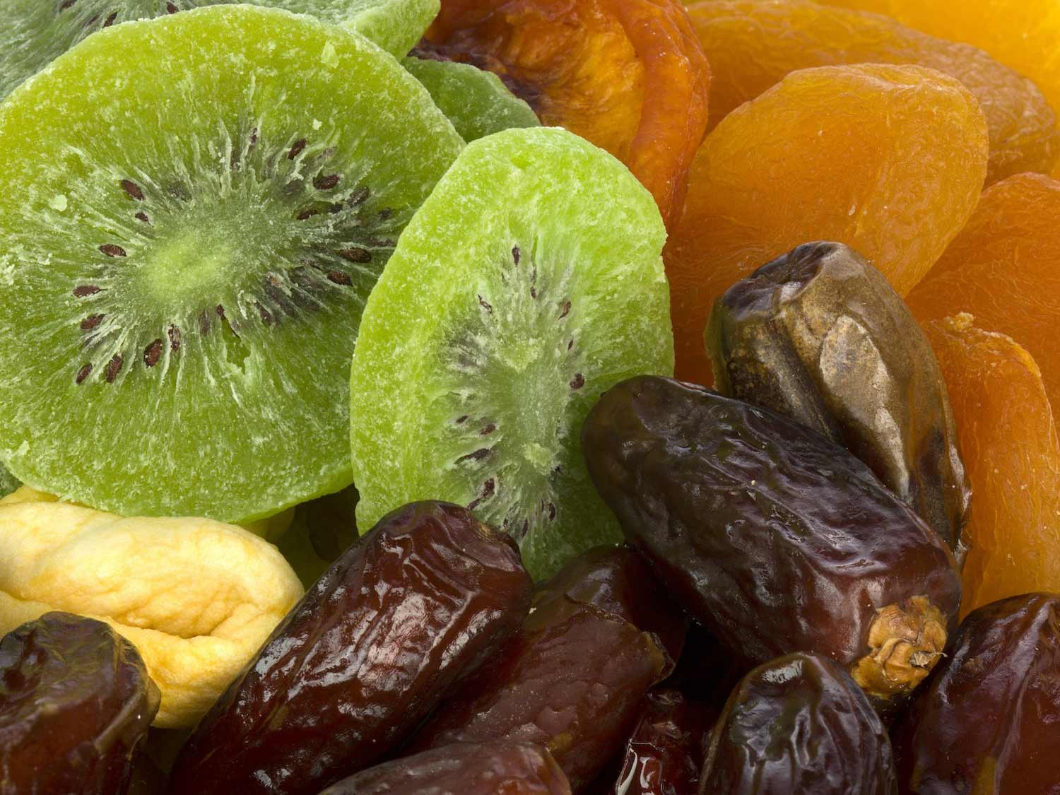 Close up of dried fruit