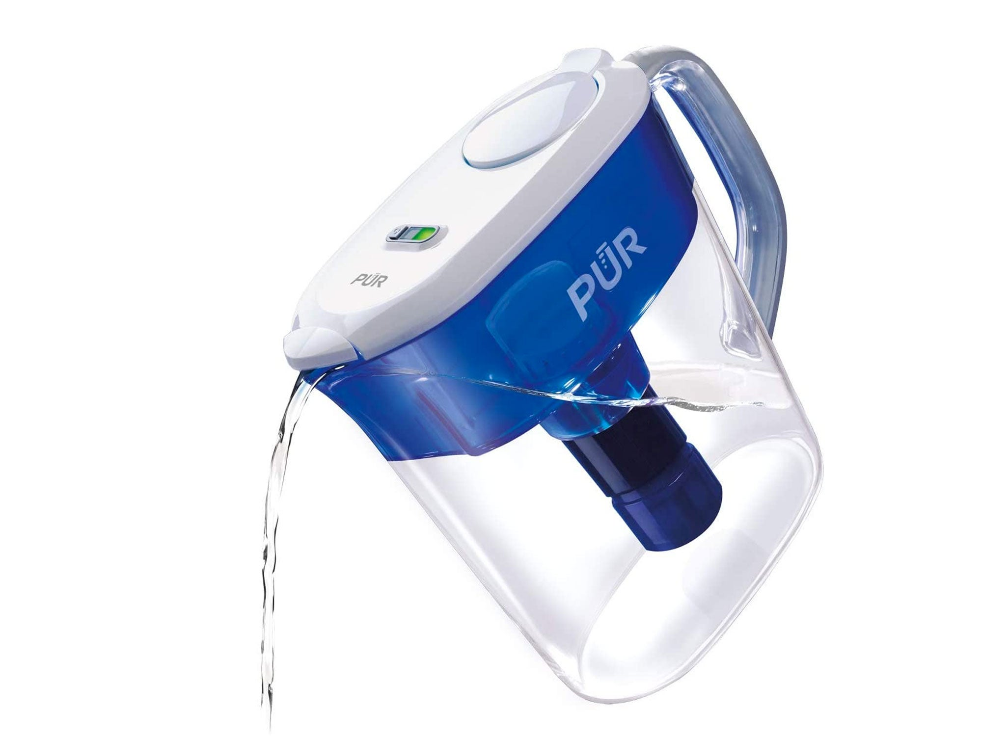PUR PPT111W Ultimate 11 Cup Pitcher with LED & Lead Reduction Filter-White
