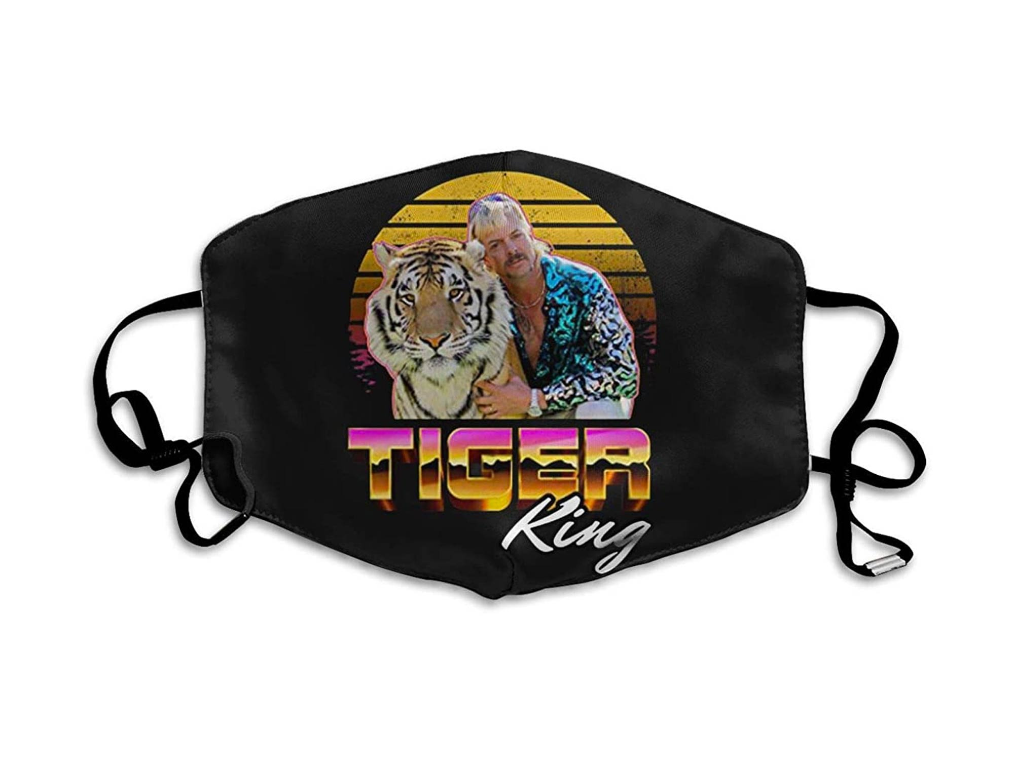 Multi Usage Face Cover Up Tiger King Vintage Joe Lovers Exotic Fan Breathable Dust Filter Face and Mouth Cover Printed