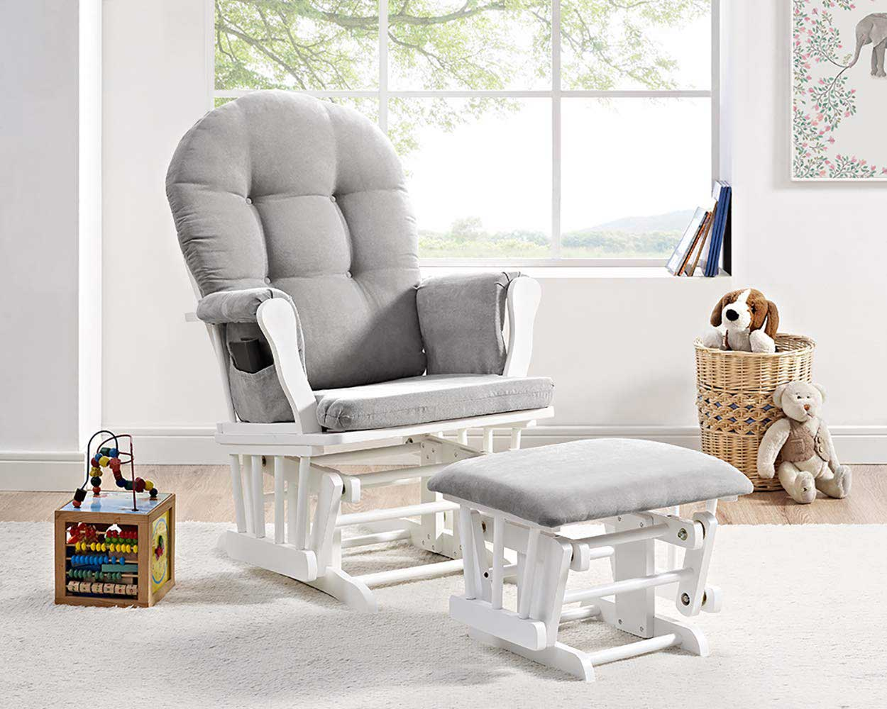 Rocking chair in bedroom