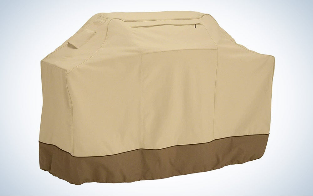 The Classic Accessories Veranda Water-Resistant Grill Cover is the best adjustable.