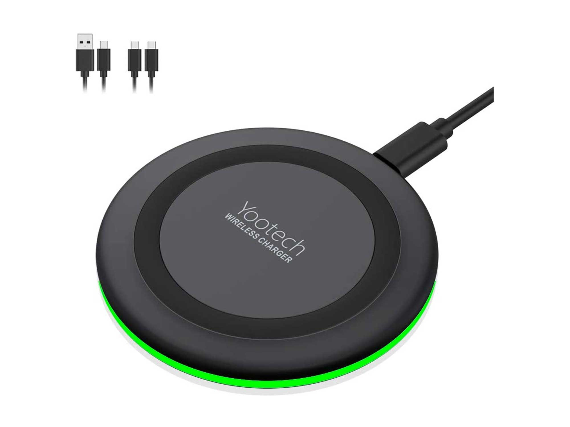 Yootech Wireless Charger,Qi-Certified 10W Max Fast Wireless Charging Pad Compatible with iPhone