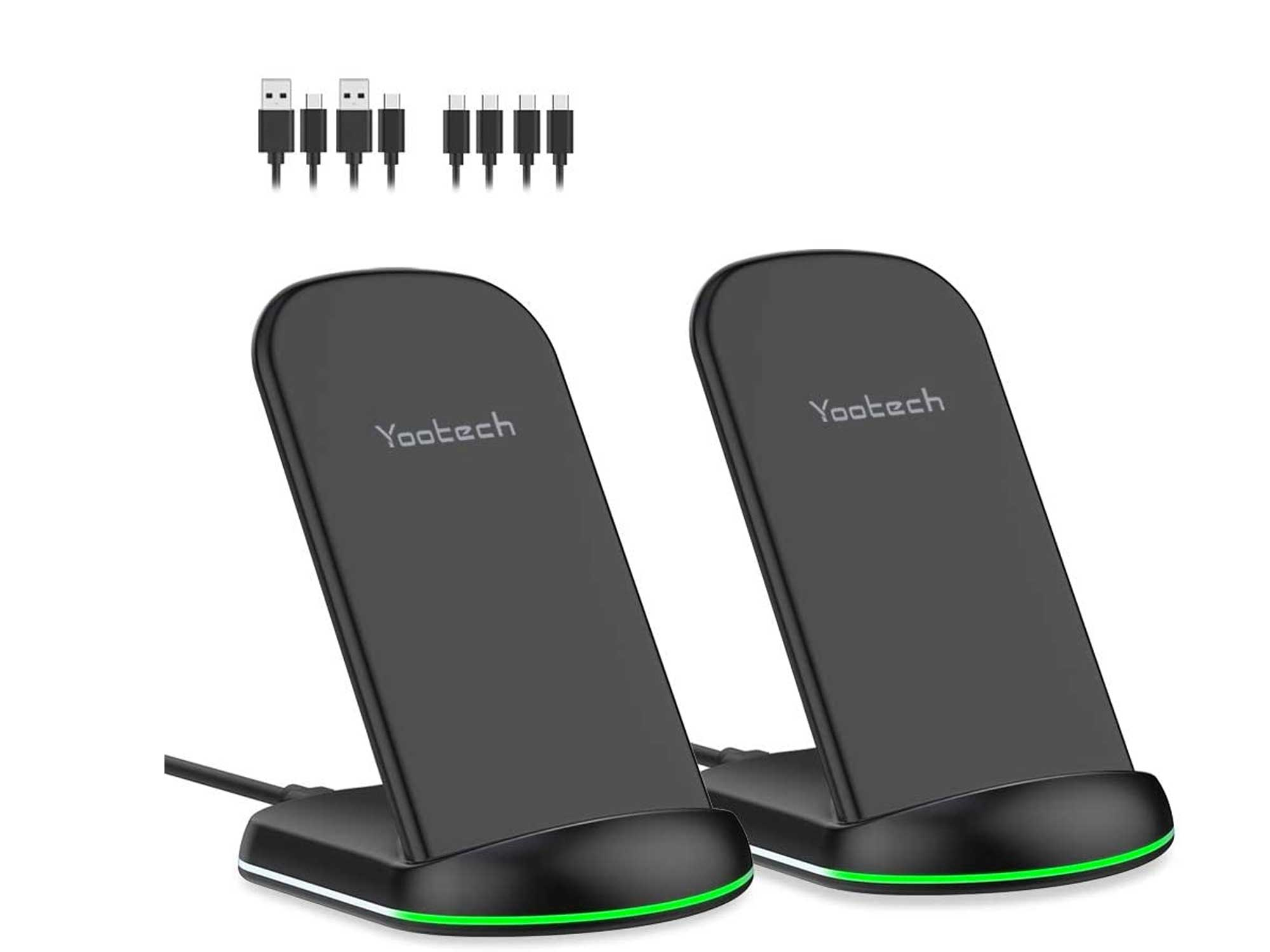 Yootech Wireless Charger,[2 Pack] 10W Max Qi-Certified Wireless Charging Stand