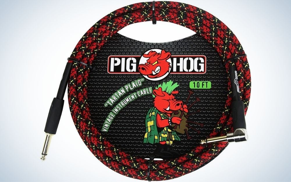 The Pig Hog PCH10PLR 10-Foot Guitar Cable is the best value